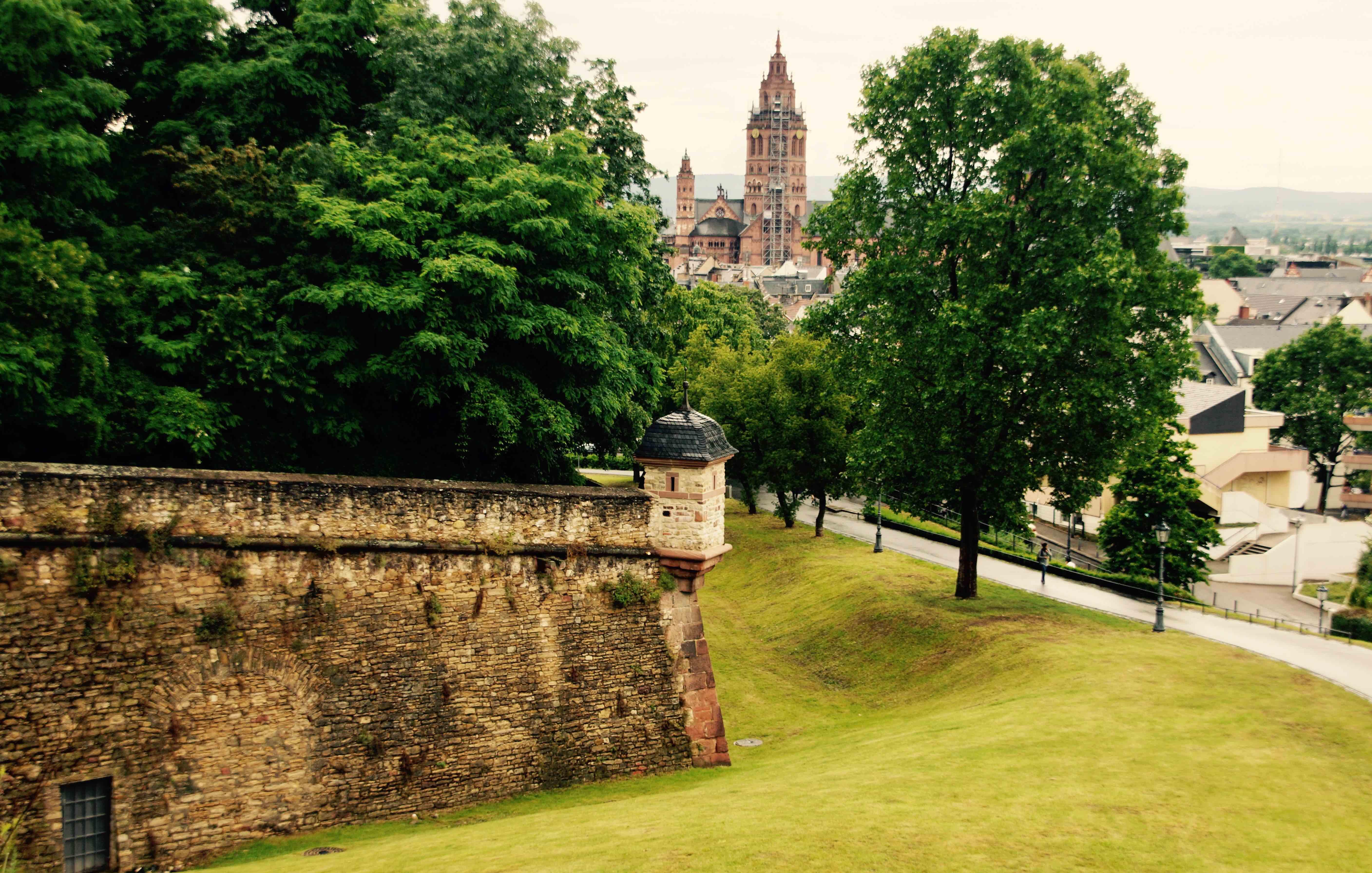 Blick von der Zitadelle auf die Mainzer Altstadt.